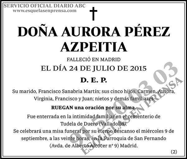 Aurora Pérez Azpeitia